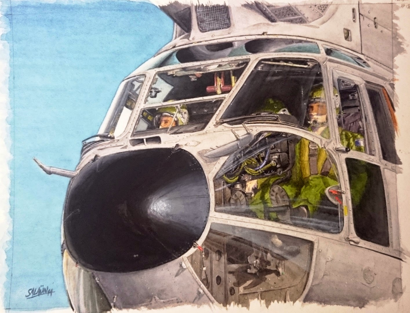 "Aquarelle AS-332C ""SUPER-PUMA"""