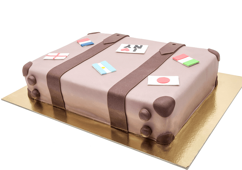 Luggage cake back side