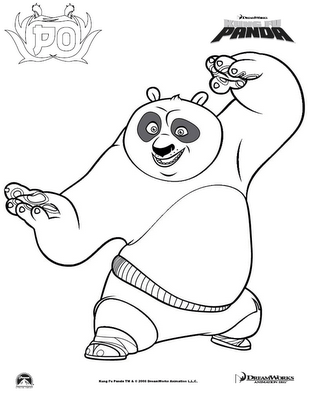 kung fu panda 2 coloring pages - Free Coloring Pages Printables for Kids