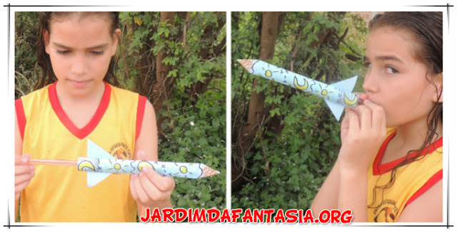 Foguete de Papel e Canudo Artesanato Fácil para Crianças com Proposta Lúdica para Aprendizagem dos Planetas