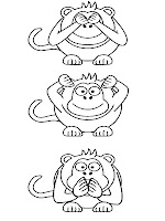 Apes Face Expression Coloring Pages