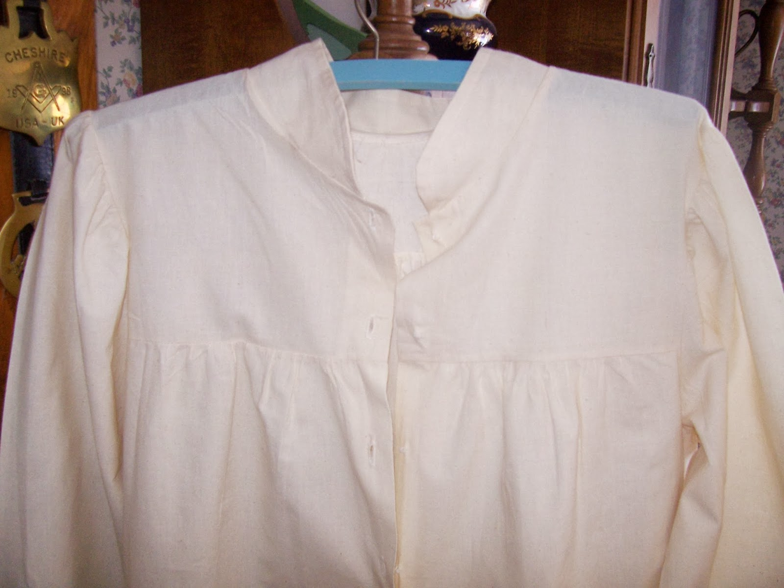 Back Stitches: Challenge #1: Make Do and Mend - Old-Fashioned Nightgown