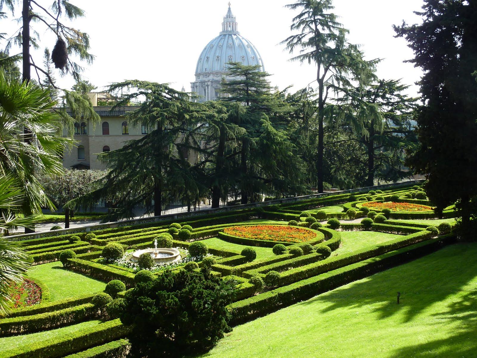 Sunlit Uplands Vatican Gardens Provide Prayerful Oasis