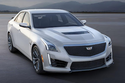 Cadillac CTS-V Sedan Crystal White Frost Edition (2016) Front Side