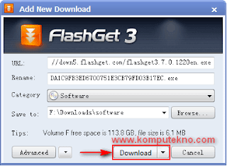 Cara Download dengan Flashget - 5