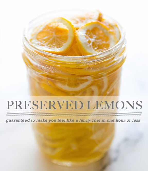 Right now I'm going to make a jar of preserved lemons and feel like a ...
