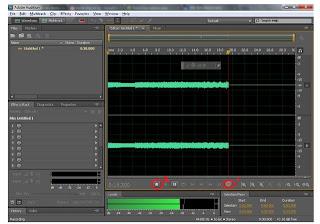 """<img source=""""pic.jpg"""" alt=""""Cara merekam dari line in dengan waveform.""""</img>"""