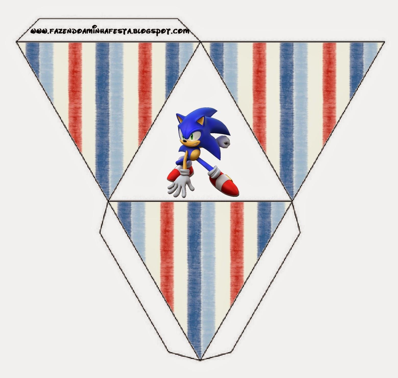 Caja con forma de pirámide de Sonic.