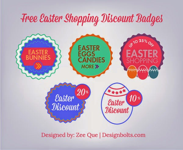 Easter Shopping Discount Badges