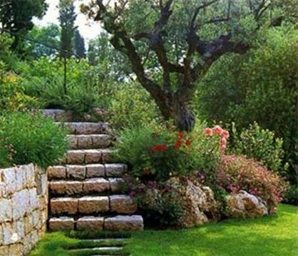 Arte y jardiner a dise o de jardines el jard n r stico for Baldosas para el jardin