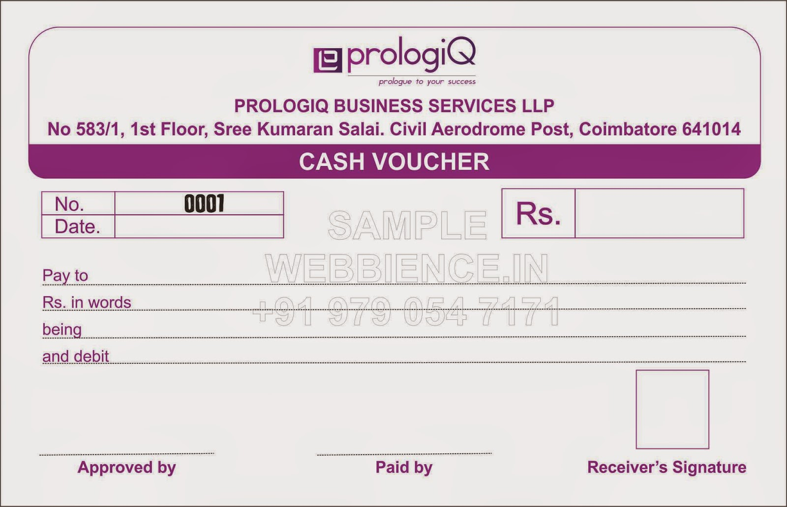 Cash Voucher Template ...