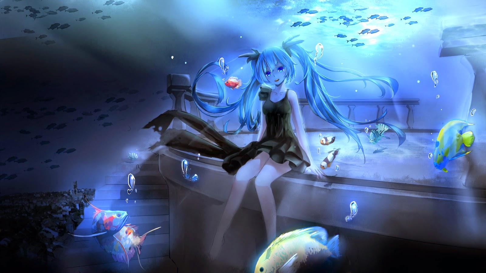 Papel de Parede Garota Anime Japonês para pc 3d hd anime girl wallpaper