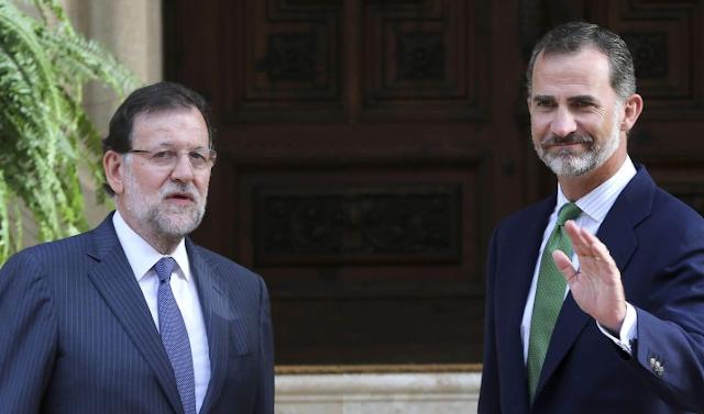 Rajoy y Felipe VI