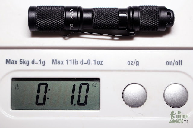 Lumintop Tool AAA Flashlight - On Scale