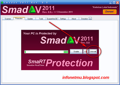 uninstall smadav