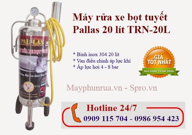 may rua xe bot tuyet pallas 20 lit