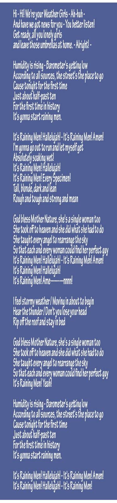Raining and ok lyrics