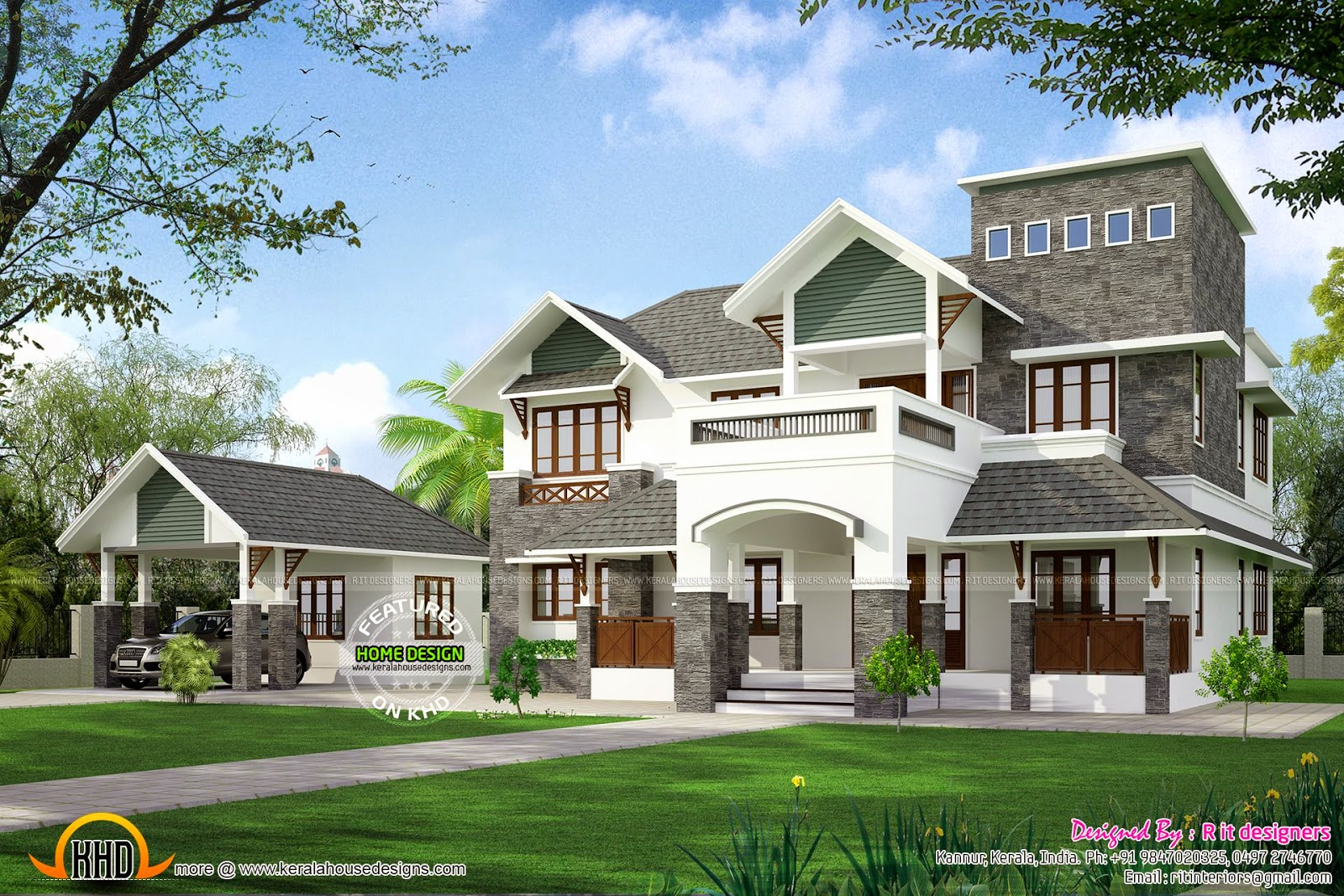House at koorg kerala home design and floor plans for House designers