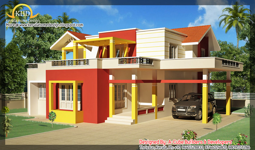 House Exterior Elevation 2000 Sq Ft Kerala Home