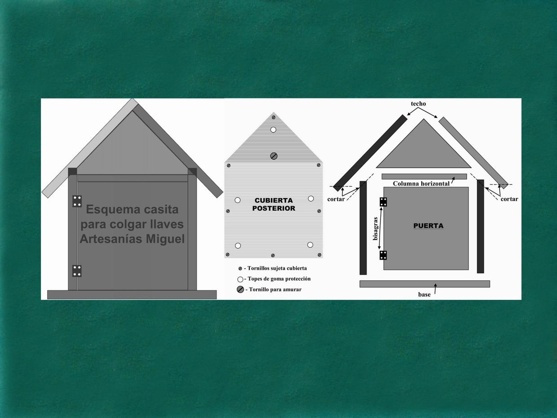 Artesanias miguel artesanias portallaves casita de madera para colgar en la pared - Para colgar llaves ...