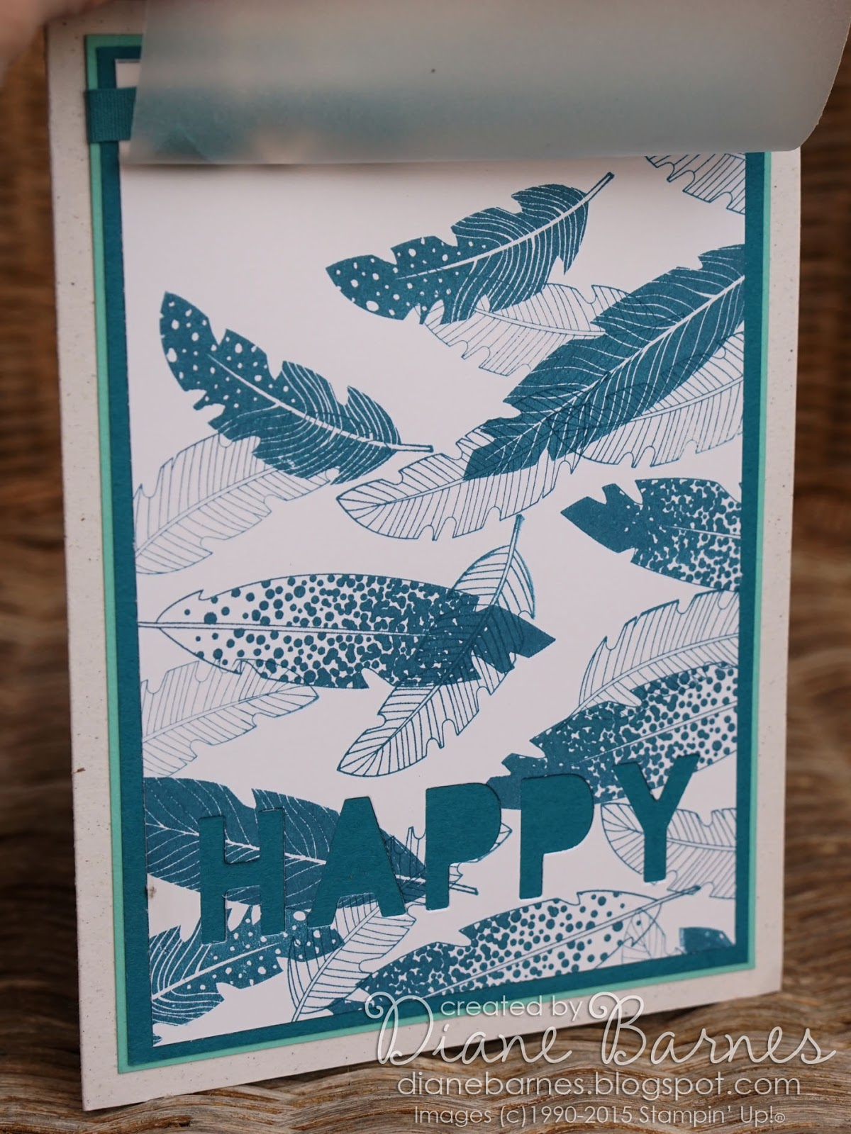 colour me happy In review Four Feathers masculine birthday card – Masculine Birthday Card