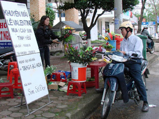 Parejas de Vietnam celebrando San Valentin