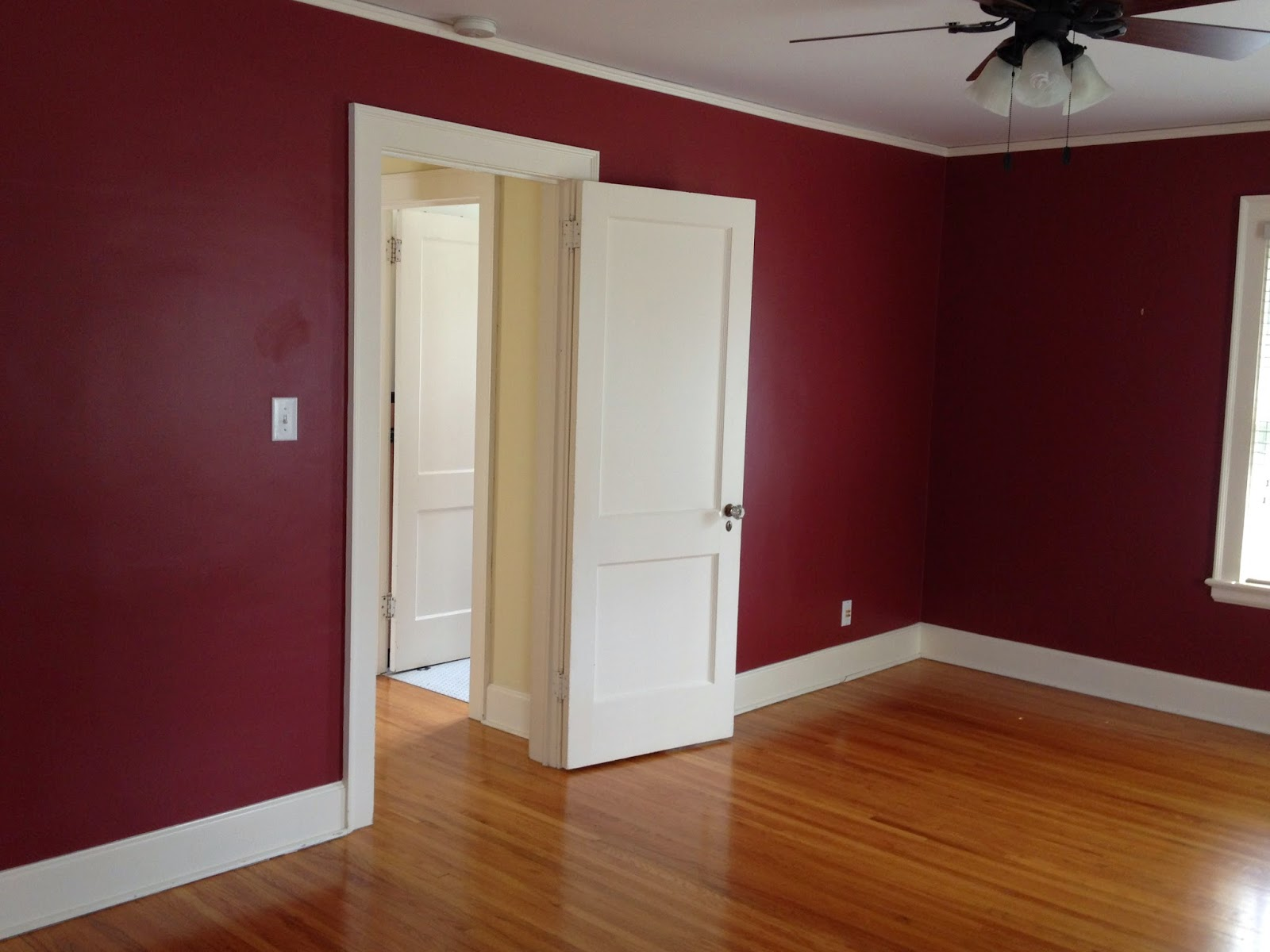 Notice The Radiator That Is Also Painted Maroon And The Kilz Primer With Maroon Bedroom