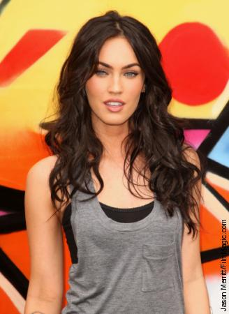 megan fox hair blonde. megan fox hair highlights.