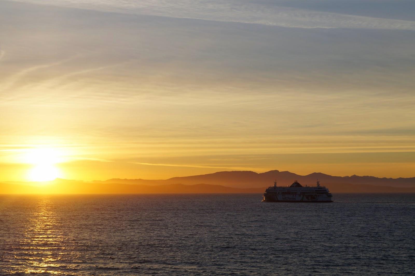 Закат в Тихом океане