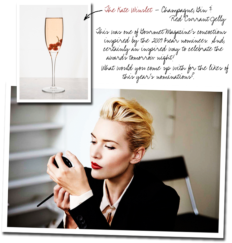 kate winslet cocktail gourmet magazine