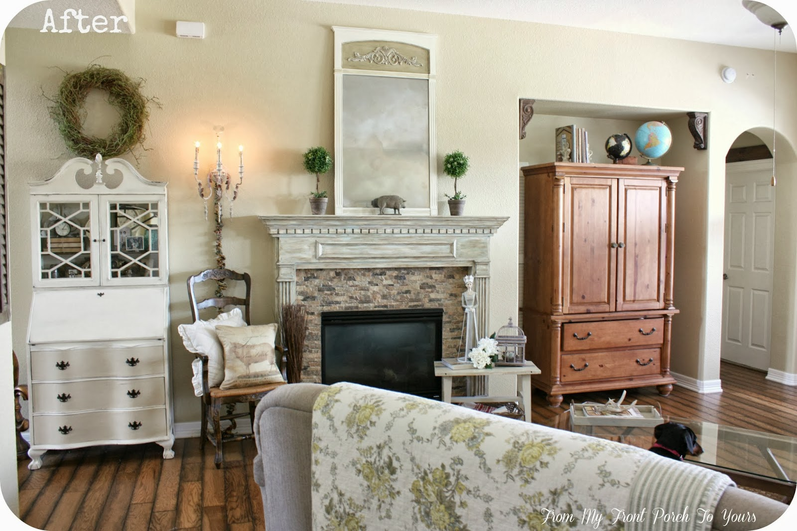 from my front porch to yours french farmhouse living room reveal. Black Bedroom Furniture Sets. Home Design Ideas