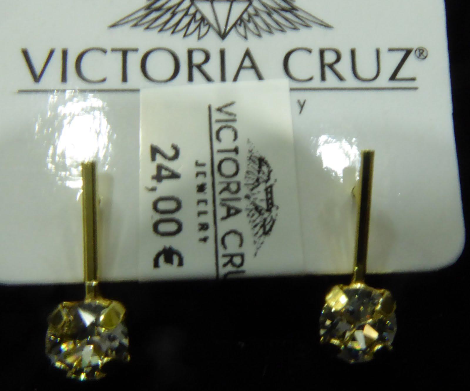 Pendientes en plata dorada y cristal de Swarovski