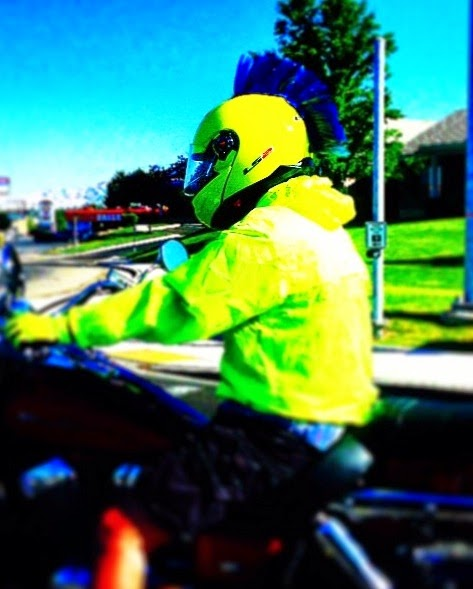 Blue Helmet mohawk