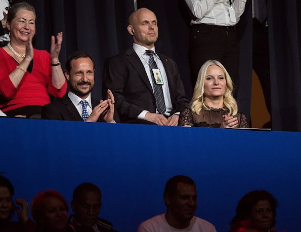 Crown Prince Haakon of Norway and Crown Princess Mette-Marit of Norway attends the 2015 Nobel Peace Prize Concert at Telenor Arena