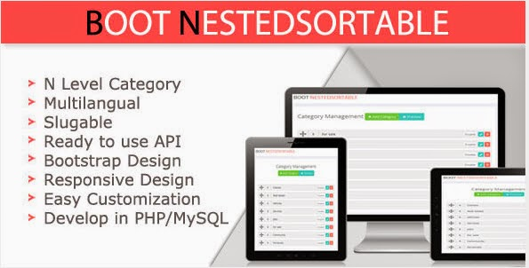Bootstrap Responsive NestedSortable jQuery Based