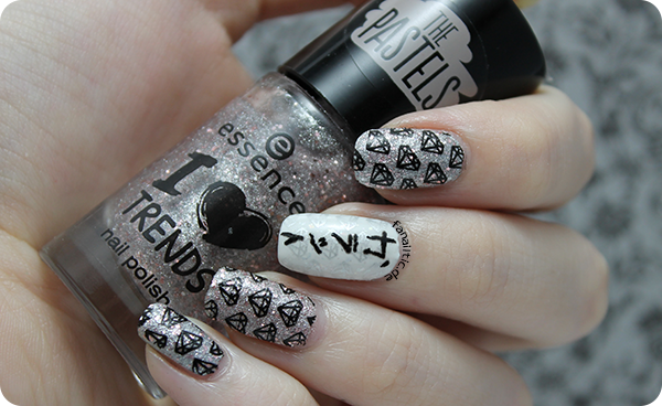 "essence ""sparkle in a bottle"" moyou london pro 05 stamping"