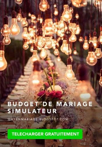 Budget de mariage simulateur