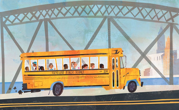 Jamey Christoph, ilustracion, illustration, washington, US, bus, children