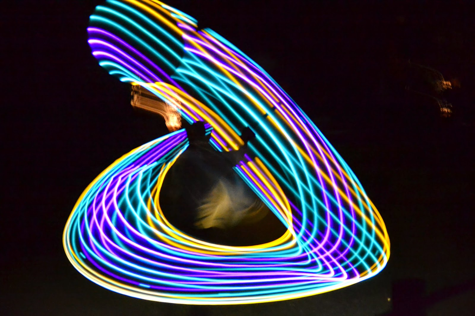 LED Hula Hoop Night Pictures