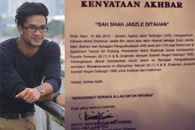 shah jaszle kena tangkap khalwat, artis malaysia, berita, gambar, berita terkini, hiburan, selebriti