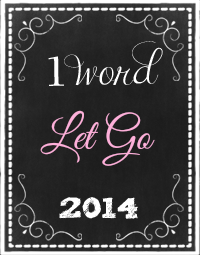 "So my ""One Word"" is two this year... ;)"