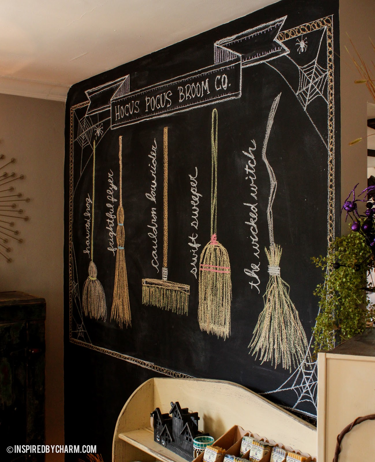 Hocus pocus broom co for Witches kitchen ideas