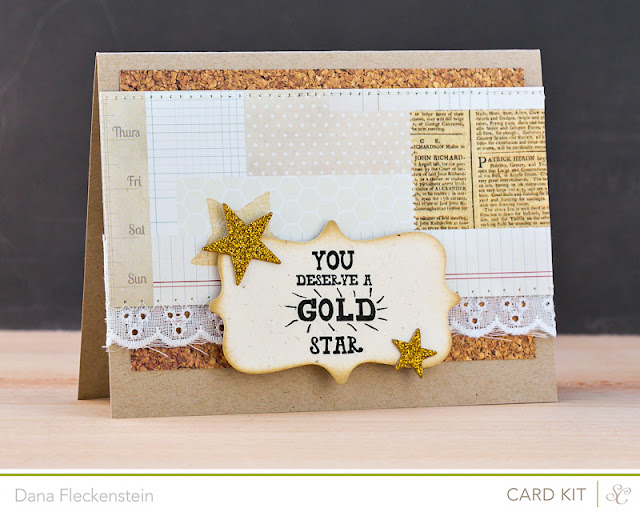 Gold Star handmade card by @pixnglue using Studio Calico Planetarium kits