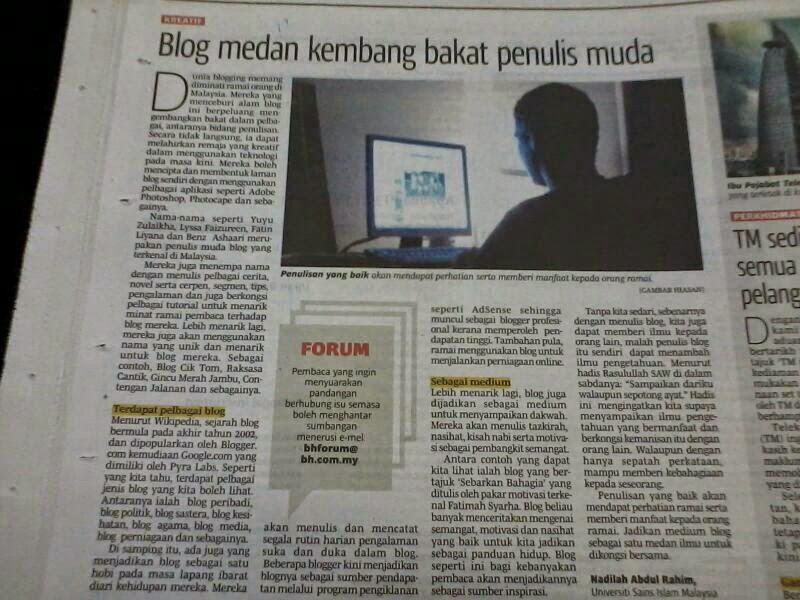 Karya di Berita Harian