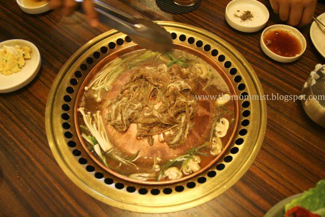 Yooksue Bulgogi being cooked