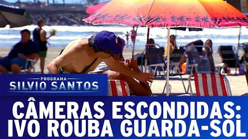 Roubando Guarda-Sol na Praia - Câmera escondida do Silvio Santos