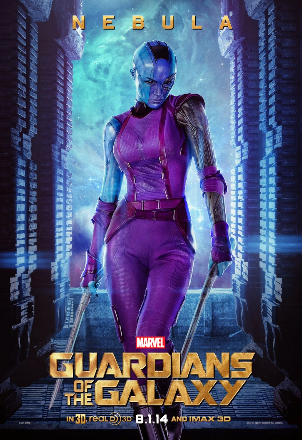 "Guardians of the Galaxy ""Villains"" Character Movie Poster Set - Karen Gillan as Nebula"