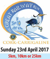 Great Railway Run...25kms, 10kms & 5kms...Sun 23rd Apr 2017