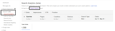 Queries pencarian mobile di google webmaster