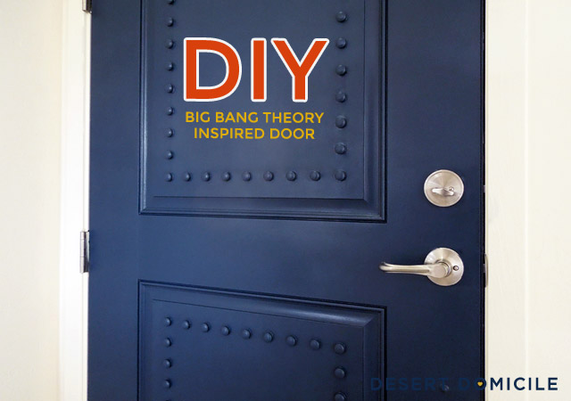 I started the project by measuring the height and width of our front door as well as the height and width of the top and bottom panels. & DIY Big Bang Theory Inspired Door | Desert Domicile